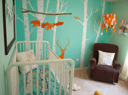 theme wall baby boy nursery themes green white owl pattern curtain pink gray