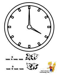 fearless hours clock coloring clocks free telling time