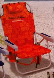 Beach Chairs Tommy Bahama Amazon Com Tommy Bahama Backpack Cooler Beach Chair Red Orange