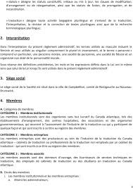 traduction siege social règlement administratif pdf