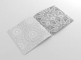 rangoli stress relieving art therapy colouring book