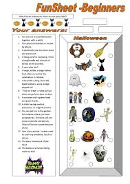 Halloween Quiz For Kids Printable by 430 Free Esl Halloween Worksheets