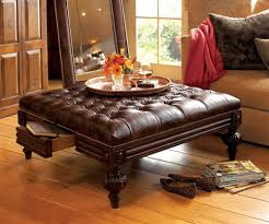 Coffee Table Leather Ottoman Furniture Square Coffee Table Ottoman Furnitures