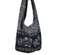 hippie elephant sling crossbody bag shoulder bag purse thai top