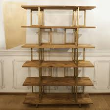 Brass Bookcase Timeless Wood And Brass U0027doppia C U0027 Bookshelf For Sale At 1stdibs