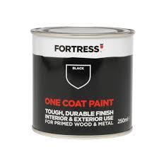 fortress one coat interior u0026 exterior black matt wood u0026 metal