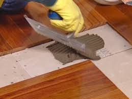Laminate Floor Saw How To Install A Mixed Media Floor How Tos Diy