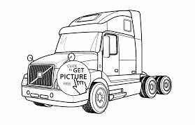 semi truck volvo coloring page for kids transportation coloring