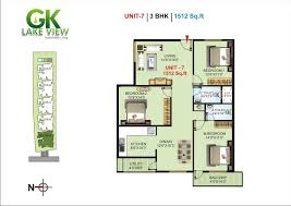 Residential Plan Overview Gk Lake View At Bangalore Gk Shelters P Ltd