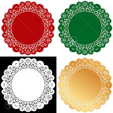 christmas lace doilies vintage placemats for holiday celebrations