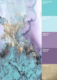 water colour combinations gold purple mint google search