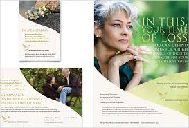 funeral program printing funeral flyers psd indd ai downl with autumn floral funeral