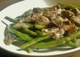 cuisiner haricot vert poèlée de légumes haricots verts et chignons au boeuf 120