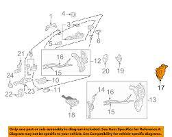 lexus ls430 accessories aftermarket lexus toyota oem 01 06 ls430 front door lock actuator motor