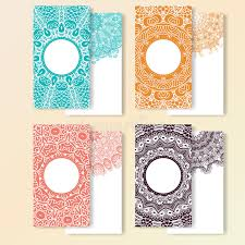 invitation greeting set of cards ornate design can used for invitation greeting or
