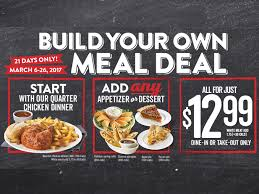 swiss chalet offers build your own meal deal through march 26