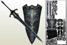 Master Sword Papercraft - master sword hylian shield pdo pdf by eutytoalba on deviantart