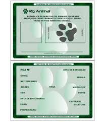 Popular SOS Animal com amor: Carteira de identidade para o animal RG  #PO74