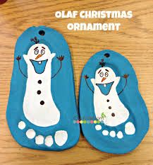 how to salt dough footprint olaf ornament