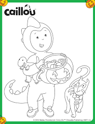 coloring pages caillou