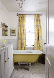 Bathroom Yellow And Gray - gray and yellow curtains cottage bathroom sarah richardson
