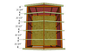 rafter spacing how to build a roof for a shed howtospecialist how to build