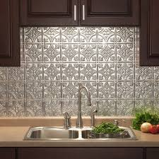 kitchen wall backsplash panels fasade traditional 18 x 24 brushed aluminum backsplash panel
