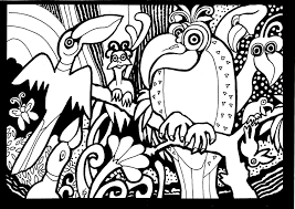 africa parrots print africa coloring pages adults