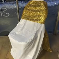 Gold Chair Sashes Gold White Chair Cover Sash Montana Event Rental