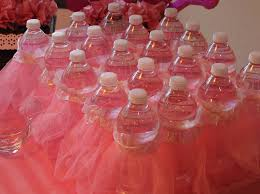 tutu baby shower decorations baby shower decorations idea peel labels water bottle and add