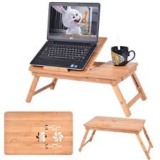 Bed Desk For Laptop by Portable Bamboo Laptop Desk Table Folding Breakfast Bed Serving
