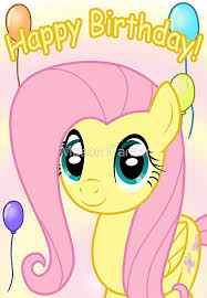 Mlp Birthday Card Fluttershy Birthday Card Postcard My Little Pony Greeting Cards