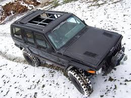 jeep cherokee xj sunroof street beat custom jeep cherokee sunroof install white exterior top