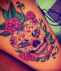 day of the dead skull thigh amazing ideas