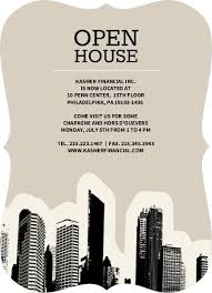 Open House Invitations City Skyline Business Open House Invitation Business Open House