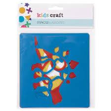 kids u0027 art u0026 craft kids craft stencils 6 pack assorted styles the