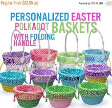 personalized easter baskets for toddlers chic easter baskets from etsy pottery barn kids