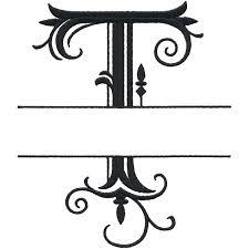monogram letter t split letter monograms
