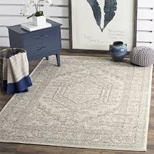 3 X 5 Area Rug by Safavieh Adirondack Collection Adr108b Ivory And Silver Oriental