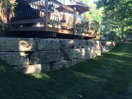 retaining walls u0026 armour stone d u0026 r landscape group niagara