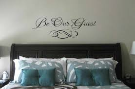 Bedroom Wall Stickers Sayings Bedroom Wall Decal Be Our Guest Wall Quote Vinyl Wall Art