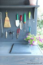 make it diy potting bench with sink setting for four