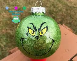 grinch ornaments etsy