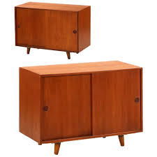 Mid Century Nightstands Pair Of Danish Mid Century Modern Teak Cabinets Nightstands By