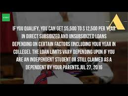 how much can you get on a student loan youtube