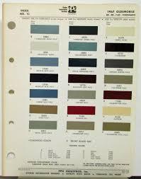 oldsmobile colors ditzler ppg paint chips form 6708 original