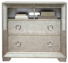 Bedroom Set With Media Chest Silver Nightstand Libby Silver Mirrored 3drawer Chest Modern