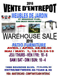 Patio Warehouse Sale Patio Furniture Outdoor Decor Mega Sale Allsales Ca