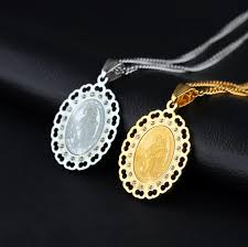 men s religious jewelry christian men and women amulet oval hollow necklace