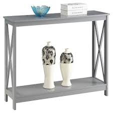 convenience concepts oxford console table oxford console table gray medium convenience concepts target